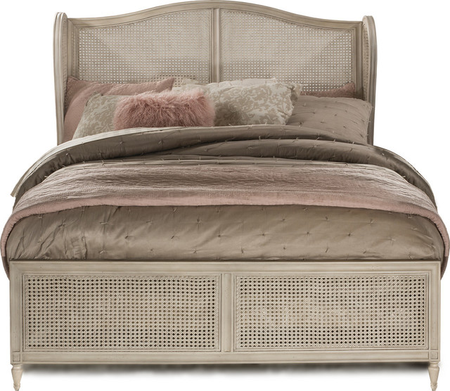 Sausalito Bed Set Side Rail Included Tropical Panel