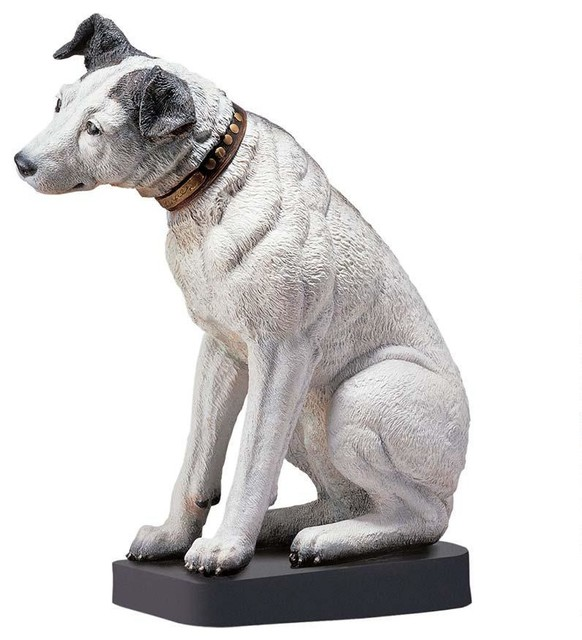 English Home Garden Dog Statue Sculpture
