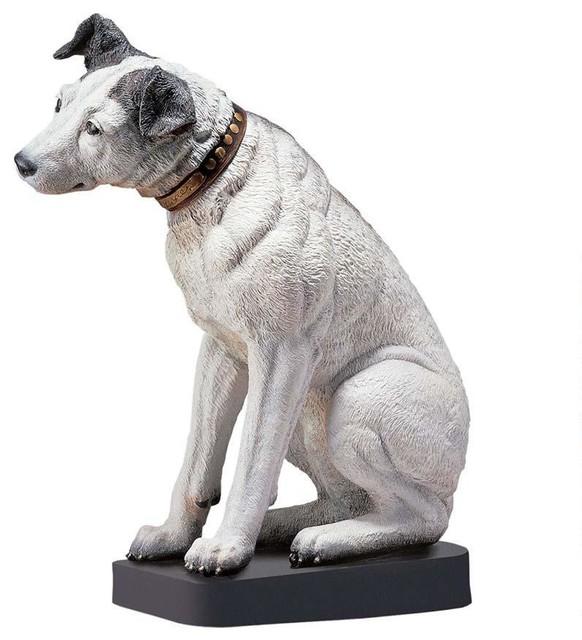English Home Garden Dog Statue Sculpture - Traditional ...