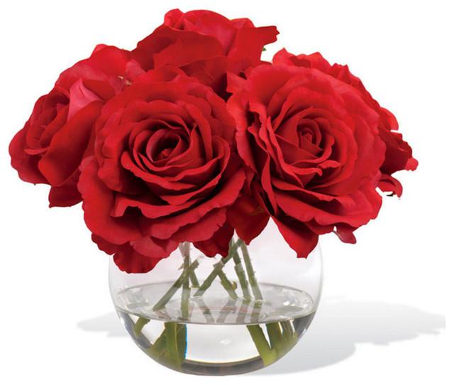 Rose nosegay silk flower arrangement contemporary artificial rose nosegay silk flower arrangement red mightylinksfo
