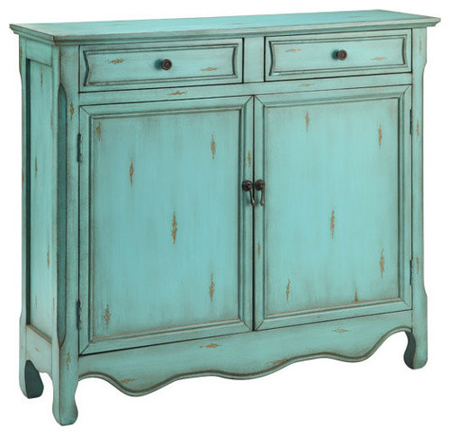 Claridon 2-Door and 2-Drawer Cupboard, Light Blue