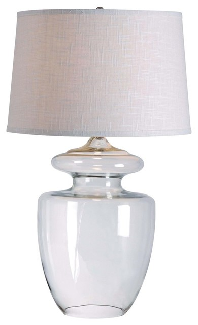 Apothecary Table Lamp, Clear Glass Finish.