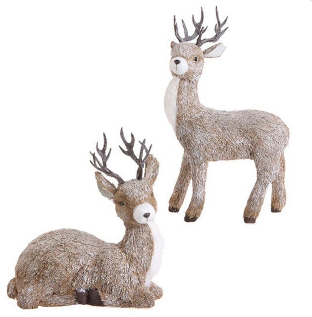 Christmas Deer Set of 2 Eclectic Outdoor Holiday  : eclectic outdoor holiday decorations from www.houzz.com size 630 x 640 jpeg 68kB