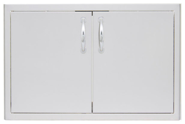 "Blaze 40"" Double Access Door With Paper Towel Holder, Stainless Steel."