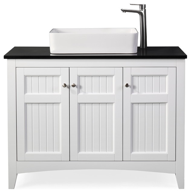 42 Thomasville White Vessel Sink Bath Vanity Transitional Bathroom Vanities And Sink Consoles By Chans Furniture Houzz