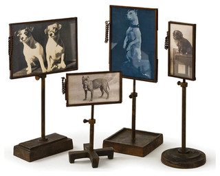 Vintage Metal Photo Holders, Set of 4 - Industrial - Decorative Objects And Figurines - by Regina Andrew