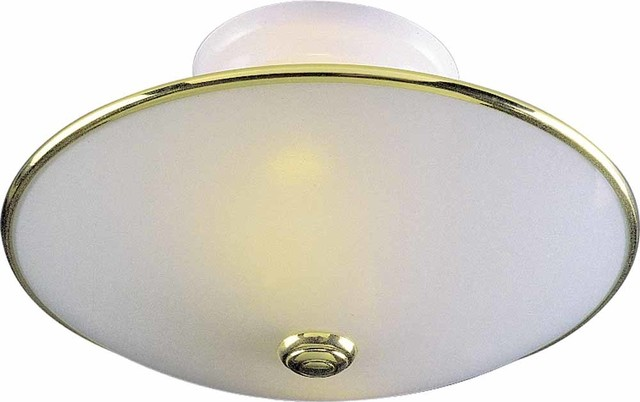 Volume Lighting 2 Light White Flush Mount Ceiling Fixture Transitional Flush Mount Ceiling