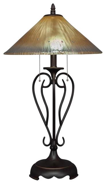 shop houzz toltec lighting toltec olde iron table lamp. Black Bedroom Furniture Sets. Home Design Ideas