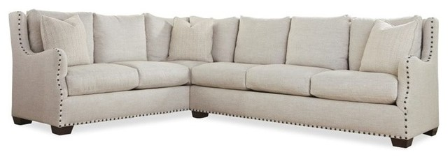 Universal Furniture Connor 2 Piece Upholstered Left Sectional In Linen