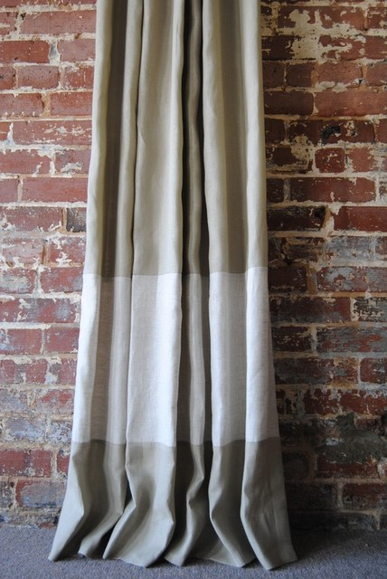 Custom Two-Toned Banded Knife Pleated Drapery Panel