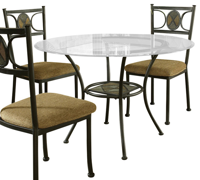steve silver carolyn glass top dining table - Steve Silver Furniture