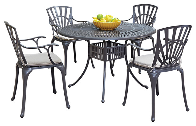 Largo 5 Piece Outdoor Dining Set With Cushions 48  : transitional outdoor dining sets from www.houzz.com size 640 x 410 jpeg 64kB