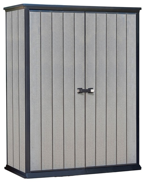 Keter Duotech High Vertical Storage Shed Transitional Sheds