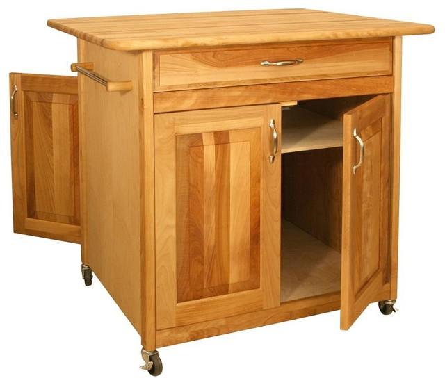 Wheeled Kitchen Cart W 4 Doors Drawer