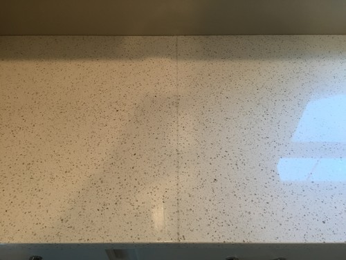 Is this an acceptable quartz seam for Seamless quartz countertops
