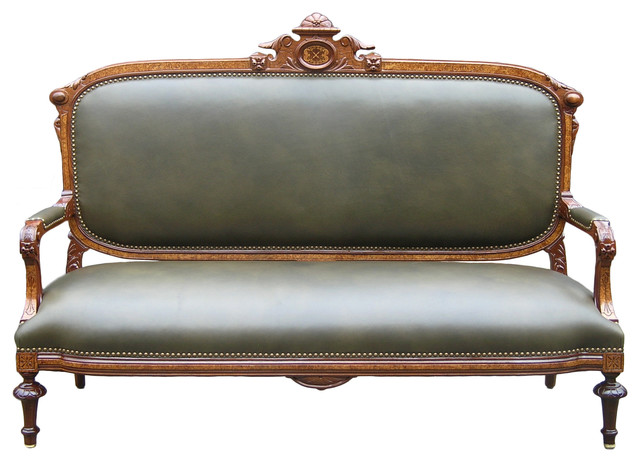 Walnut Parlor Sofa Traditional Sofas By Classic