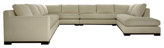 hugo ushaped sectional linen beige sofas