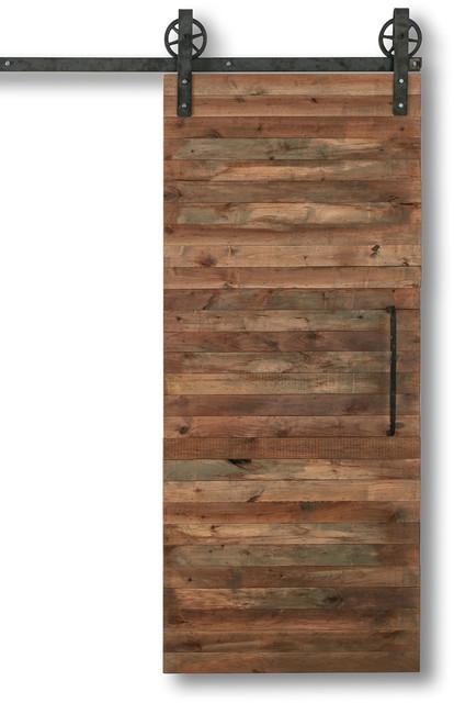 Reclaimed Slat Barn Door Rustic Interior Doors By