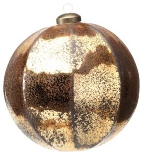 Large Holiday Ball Christmas Ornament, Antique Gold (Set of 4) -  Contemporary - Christmas Ornaments - by Zodax