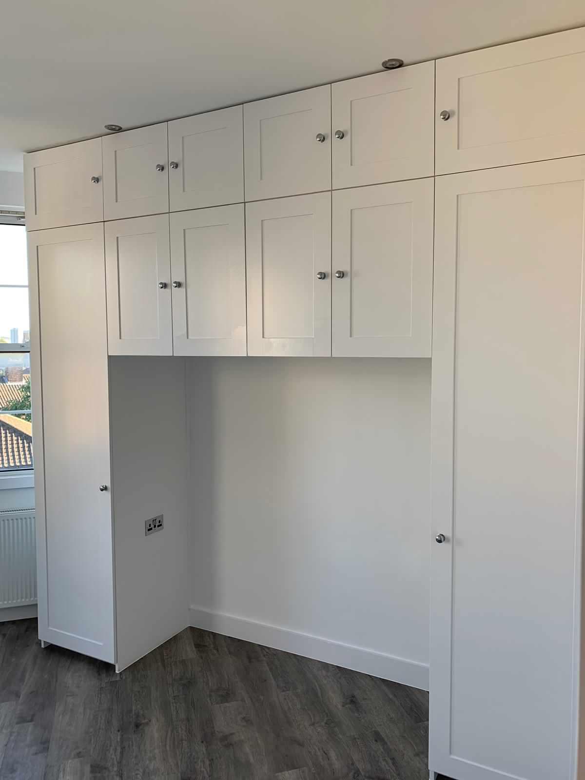 Built in cupboard space