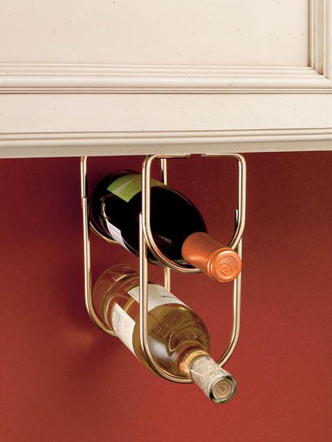 Under-Cabinet Wine Bottle Organizer