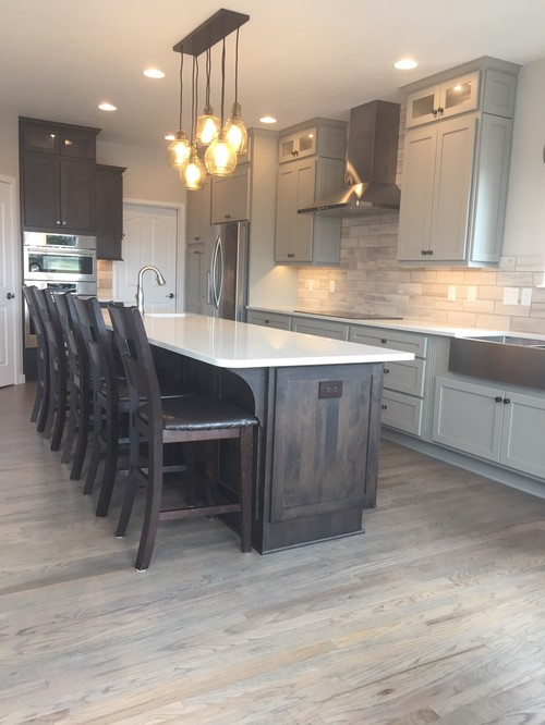 Kitchen reveal for Grey floor black cabinets