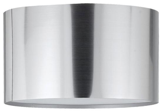Drum vacuum plated pvc shade chrome finish brushed steel lamp drum vacuum plated pvc shade chrome finish brushed steel aloadofball Gallery