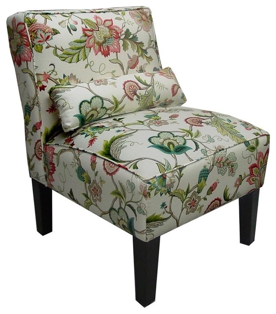 Brissac Accent Chair in Jewel Floral