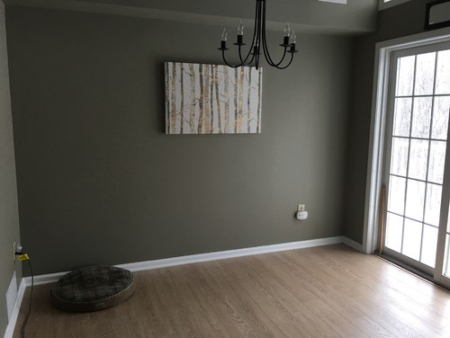 Need help with open wall in small dining area, ideas other than galler