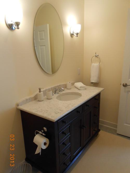 Vinage feel full bathroom renovation for Full bathroom renovation