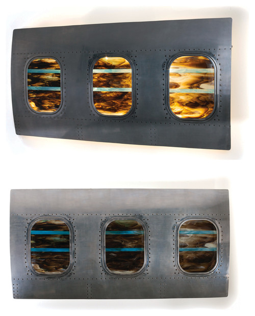 Inspired By Concorde. Aeroplane Fuselage Fused Glass Art