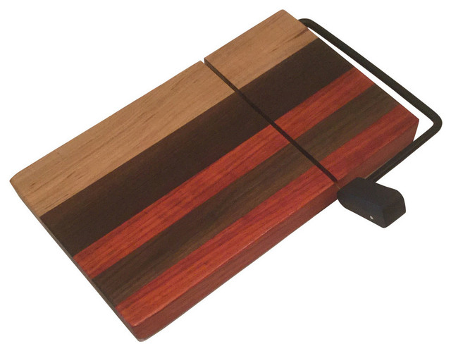 Hickory Bloodwood Walnut Cheese Slicer.