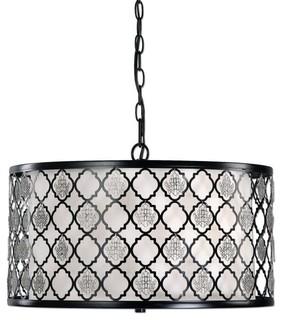 Uttermost 22062 Filigree 3 Light Drum Pendant Lighting