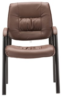 BTEXPERT Premium Leather Office Executive Chair Guest Side Chair Espresso
