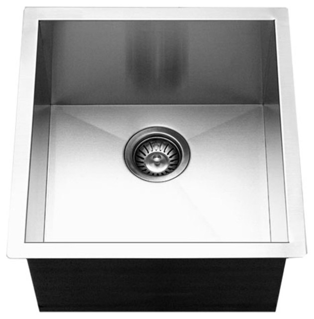 Houzer Ctr 1700 Contempo Series Undermount Stainless Steel Bowl Bar Prep Sink Contemporary Sinks By Inc
