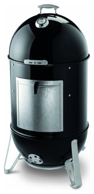 "Weber Smokey Mountain Cooker 22.5"" Charcoal Smoker Black."