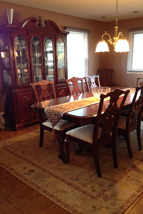 ideas to modernize dining room set please