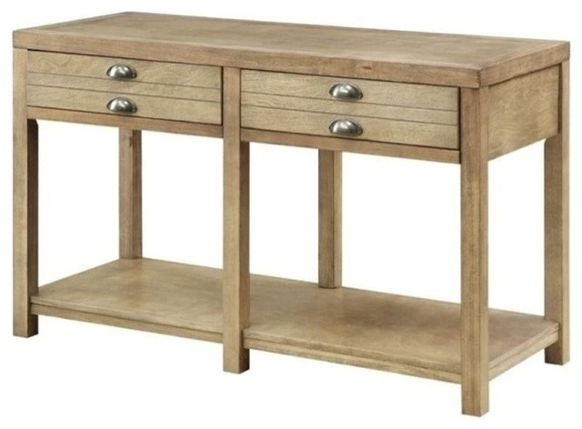 Surprising Bowery Hill Storage Console Table Light Oak Gmtry Best Dining Table And Chair Ideas Images Gmtryco