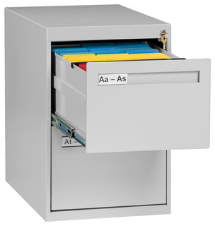 2-Drawer Legal Size Vertical File Cabinet - Contemporary - Filing Cabinets - by Tennsco Corp