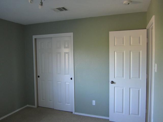 Bedroom Sherwin Williams Cascade Green Contemporary