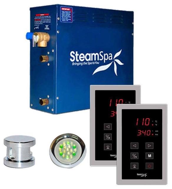SteamSpa RYT900CH Royal 9 KW QuickStart Acu-Steam Bath Generator Package in P...
