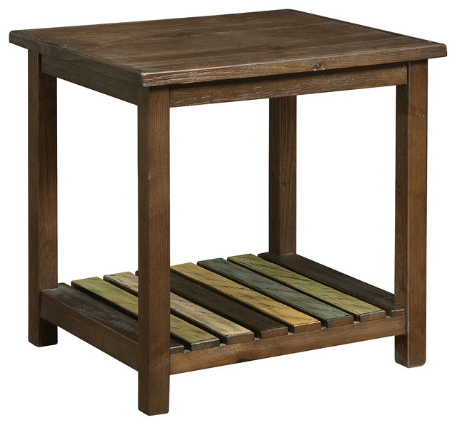 Whitwell country style end table farmhouse side tables for Farmhouse end table set