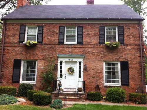 Front Door Color On Brick Home