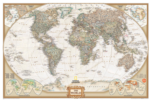 National Geographic World Map Wall Decal Contemporary Wall Decals