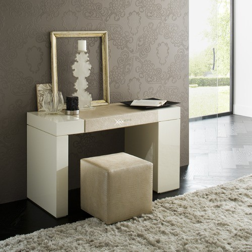 Rossetto Furniture Diamond Ivory Dressing Table T266700000054 Contemporary Bedroom