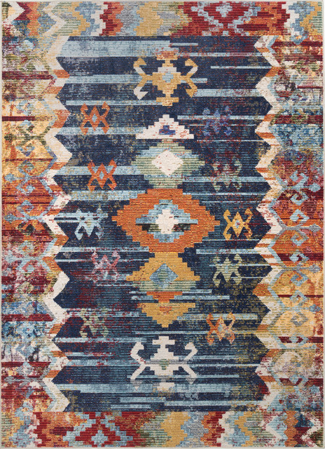 Nuloom Contemporary Faded Tribal Abstract Area Rug