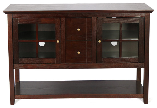52 Quot Wood Console Table Tv Stand Transitional