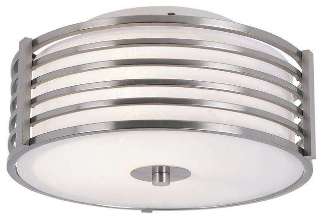 Trans Globe Lighting 10040 Bn Flushmount In Brushed Nickel.