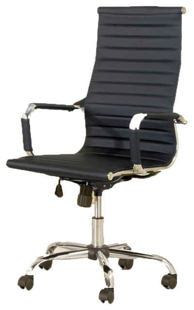 Hollywood Decor Sason Height Adjustable Office Chair Upholstered Leatherette