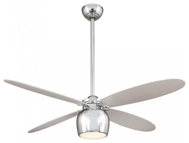 Minka Aire City Contempo 1 Light Chrome Ceiling Fan Contemporary